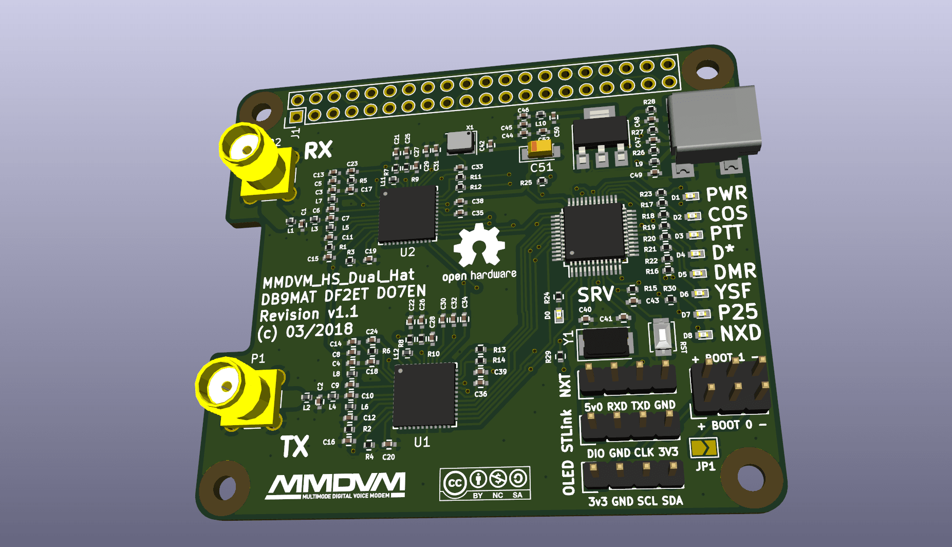 MMDVM_HS_Dual_Hat by DB9MAT, DF2ET and DO7EN, Quelle: https://github.com/phl0/MMDVM_HS_Dual_Hat